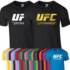 UFC Championship Tshirt Tee Top McGreggor MMA The Cage Gym Thai Boxing Workout