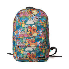Official POKEMON  All-over Characters Backpack Rucksack School College Uni Bag