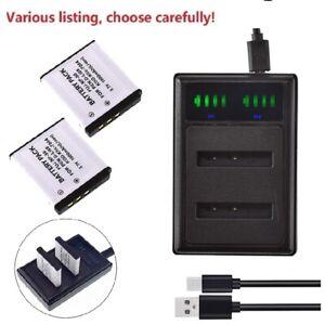 Replacement Battery or charger for Pentax D-LI68 D-LI122 Pentax Q Optio A36 Cam