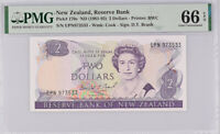 New Zealand 2 Dollars 1981-92 P 170 c BRASH GEM UNC PMG 66 EPQ