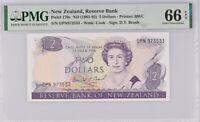 New Zealand 2 Dollars 1981-92 P 170 c BRASH GEM UNC PMG 66 EPQ