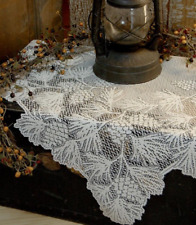 """Heritage Lace White WOODLAND 36"""" x 36"""" Table Topper"""