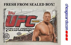 2010 Topps UFC Series 4 Hobby Pack Auto Relic Parallel Brock Lesnar Cover NEW