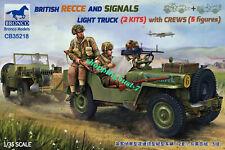 Bronco 1/35 35218 British Recce And Signals Light Truck w/Crews