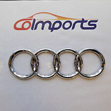 AUDI FRONT REAR BACK TRUNK GRILL LID RING RINGS LOGO BADGE EMBLEM CHROME 3M