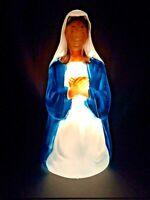 "Vintage General Foam 27"" Virgin Mary Nativity Blow Mold - Christmas Yard Decor"