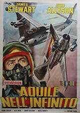 """STRATEGIC AIR COMMAND"" Affiche originale italienne entoilée (James STEWART)"