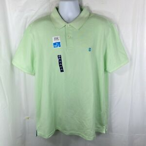 Izod Mens XL Advantage Stretch Mint Green Golf Polo Shirt Sport Flex Cool FX NWT