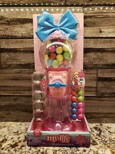 My Life As GUMBALL MACHINE Lights Sounds Pink Bow 26 Pieces Coins for 18in dolls
