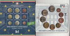 ITALIA 2011 SET DIVISIONALE EURO 9 PEZZI SIGILLATA CON 2 € UNITA' ZECCA FDC UNC