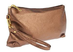 Laura Geller Cosmetics / makeup  Bag - goldish brown color - Wristlet! - New!