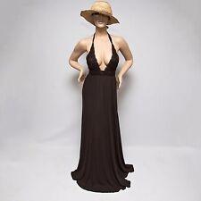 NWD Ingwa Melero Brown Jersey Venus Maxi Dress 68 VHMD $326 Medium