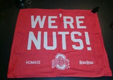 Ohio State Buckeyes Rah Rah Rally Towel Rag - We're Nuts