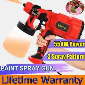 800ml Electric Paint Spray Gun Sprayer Handheld Airless Machine Home DIY Tool UK