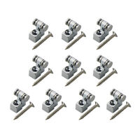 10pcs Chrome Metal Guitar String Retainer Roller String Trees Guide Guitar Parts