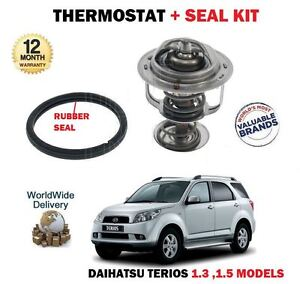FOR DAIHATSU TERIOS 1.3 DVVT 1.5 2000--> THERMOSTAT KIT WITH RUBBER SEAL GASKET