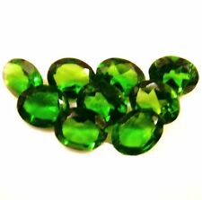 NATURAL GREEN CHROME DIOPSIDE GEMSTONES LOOSE PAIR OVAL SHAPE 4.1 x 3 mm  AAA