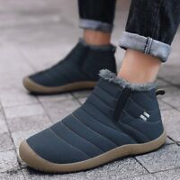 Men Winter Snow Boots Cotton Inside Keep Warm Waterproof Casual Shoes Large Size