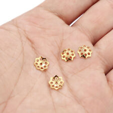 100pcs Stainless Steel Gold Hollow Flower Bead Caps for DIY Jewelry Making 8mm