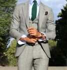 Men Slim Fit Checkered Formal Suits Business Party Stylish Tuxedos Party Wear