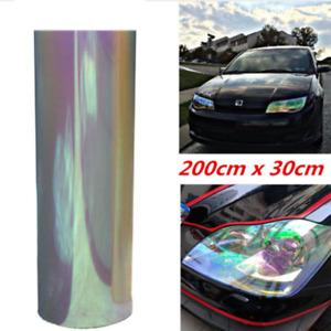 "12""x78"" Chameleon Neo Clear Autos Headlight Taillight Fog Light Vinyl Tint Film"