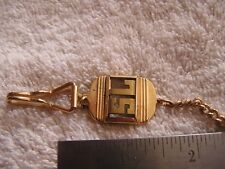 Vintage Pocket Watch Chain Fob with Initials SL