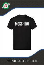 T Shirt Maglietta Uomo donna moschino Logo stampato Cotone 100%