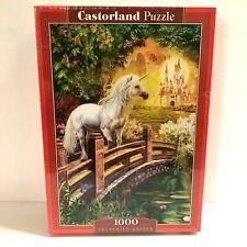 New Unicorn Jigsaw Puzzle 1000 Piece Enchanted Garden Fantasy Castorland Sealed