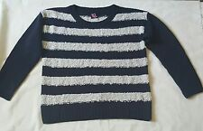 Tg Womens Blue and White Striped Jumper Size 16