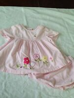 Miniwear toddler 24 months girl dress bloomers pink flowers Easter spring 2T