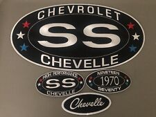 GARY'S LARGE 6-1/2x12 CHEVY SS CHEVELLE SEW/IRON ON 2x4 PATCH COMBO EMBROIDERED