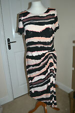Polyester Boat Neck Striped Regular Size Dresses for Women