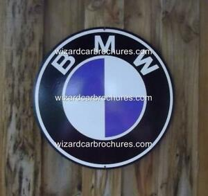 "BMW X5 X6 Z3 318 R90S MOTORCYCLE BIKE 14"" DIA 355mm STEEL GARAGE SIGN NOT - TIN"