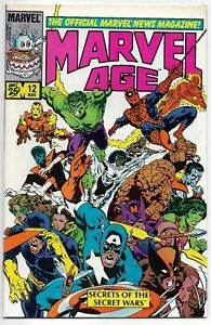 Marvel Age #12 1st Spider-Man Black Costume 1984 VFN