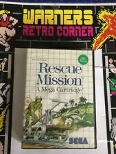 Sega Master System SMS Retro Spiel RESCUE MISSION Boxed no manual