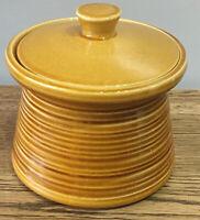 Vintage Crown Devon Storage Jar 15cm Tall. Crown Devon. Honey Colour