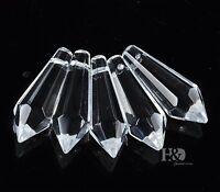 10PCS Chandelier Glass Crystal Lamp Prisms Parts Hanging Drops Pendant 38mm Lots