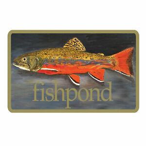"Fishpond Brookie 5"" Decorative Bumper Fly Fishing Sticker"