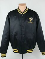 Vintage Swingster Pittsburgh Penguins NHL Satin Snap Button Jacket, Men's Large