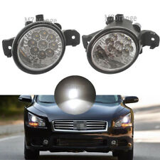 2X LED For Nissan Maxima 2007-2014 Front Replacement Fog Light Housing Lamp Lens