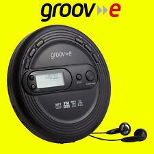 Groov-e GVPS210 Black Retro Series Personal CD MP3 Player Walkman with FM Radio
