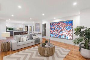 Huge original Art oil Painting abstract Canvas barrier reef artwork wall decor