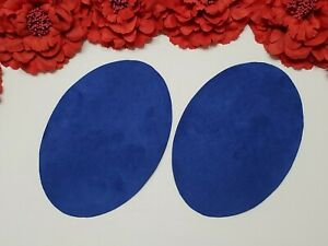 Elbow Patches -- Blue -- Set of 2 -- Iron On