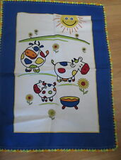 COWS HAND KITCHEN TOWEL happy colorful fun 18x26 COTTON