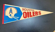 "Oilers Felt Pennant Vintage Houston Texas NFL man cave decor 12"" x 29"" 1970s"