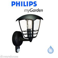 PHILIPS MY GARDEN CREEK WALL UP C/W PIR SECURITY BLACK LANTERN LIGHT BRANDED NEW