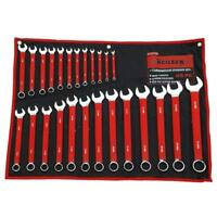 25PC METRIC SOFT GRIP COMBINATION SPANNER WRENCH RING OPEN SET IN CASE 0126 NEW