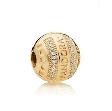 1pcs European charm Gold Round bead Fit 925 silver bracelet chain