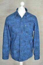 LEVI STRAUSS Blue denim effect long sleeve shirt LARGE