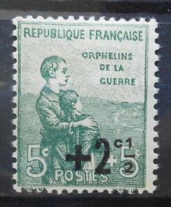 FRANCE - ORPHANS OF WAR 1922 SC: B15 MLH